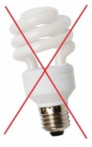 non a l'ampoule fluocompacte